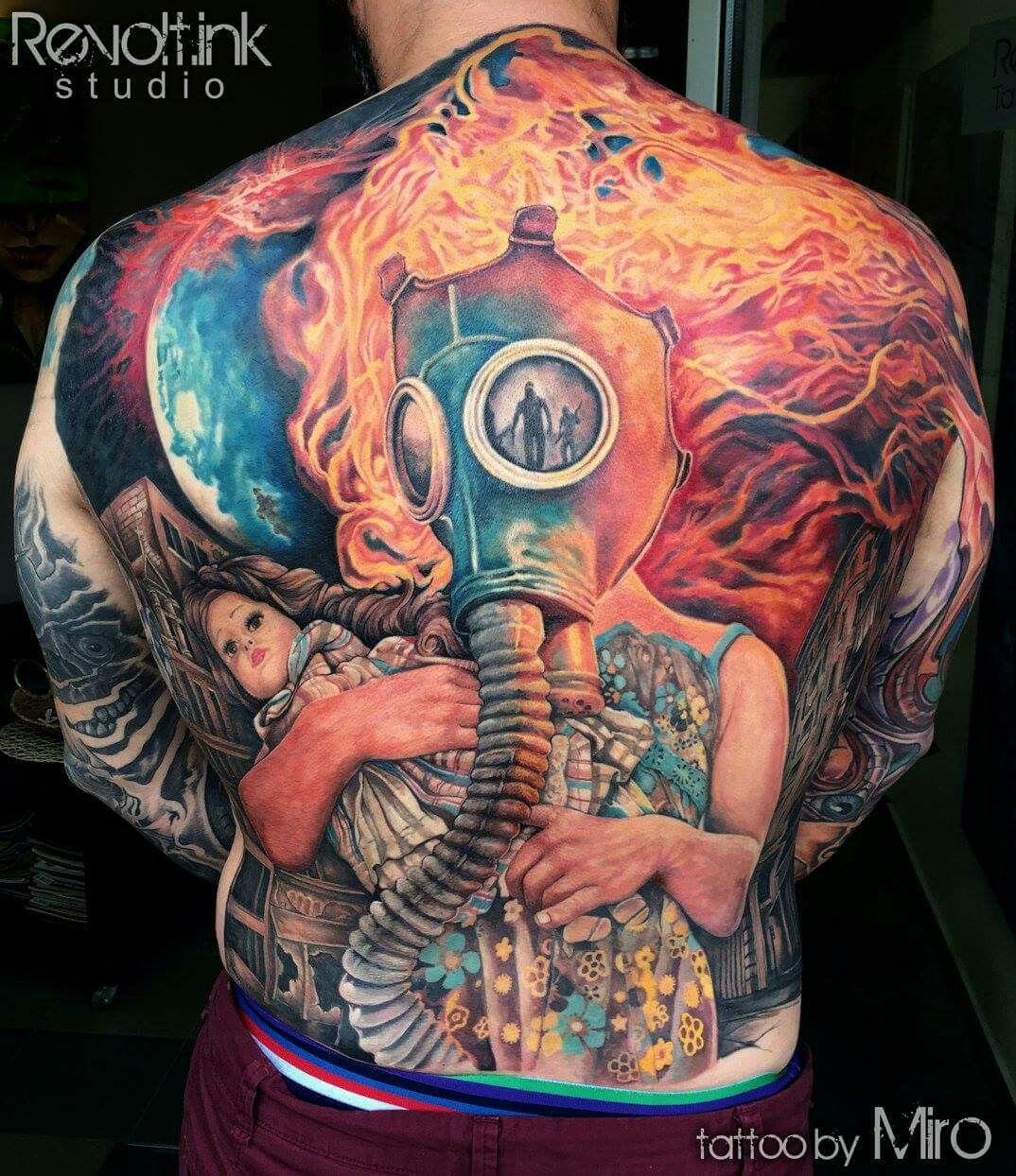 44 best gas mask tattoos collection - Best Gas Mask Tattoo