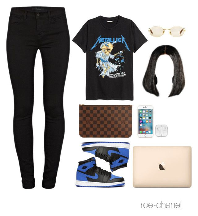 """""""Generation full of nothing but """"plagiarizers"""""""" by roe-chanel ❤ liked on Polyvore featuring H&M, J Brand, Retrò, Cartier and Louis Vuitton"""