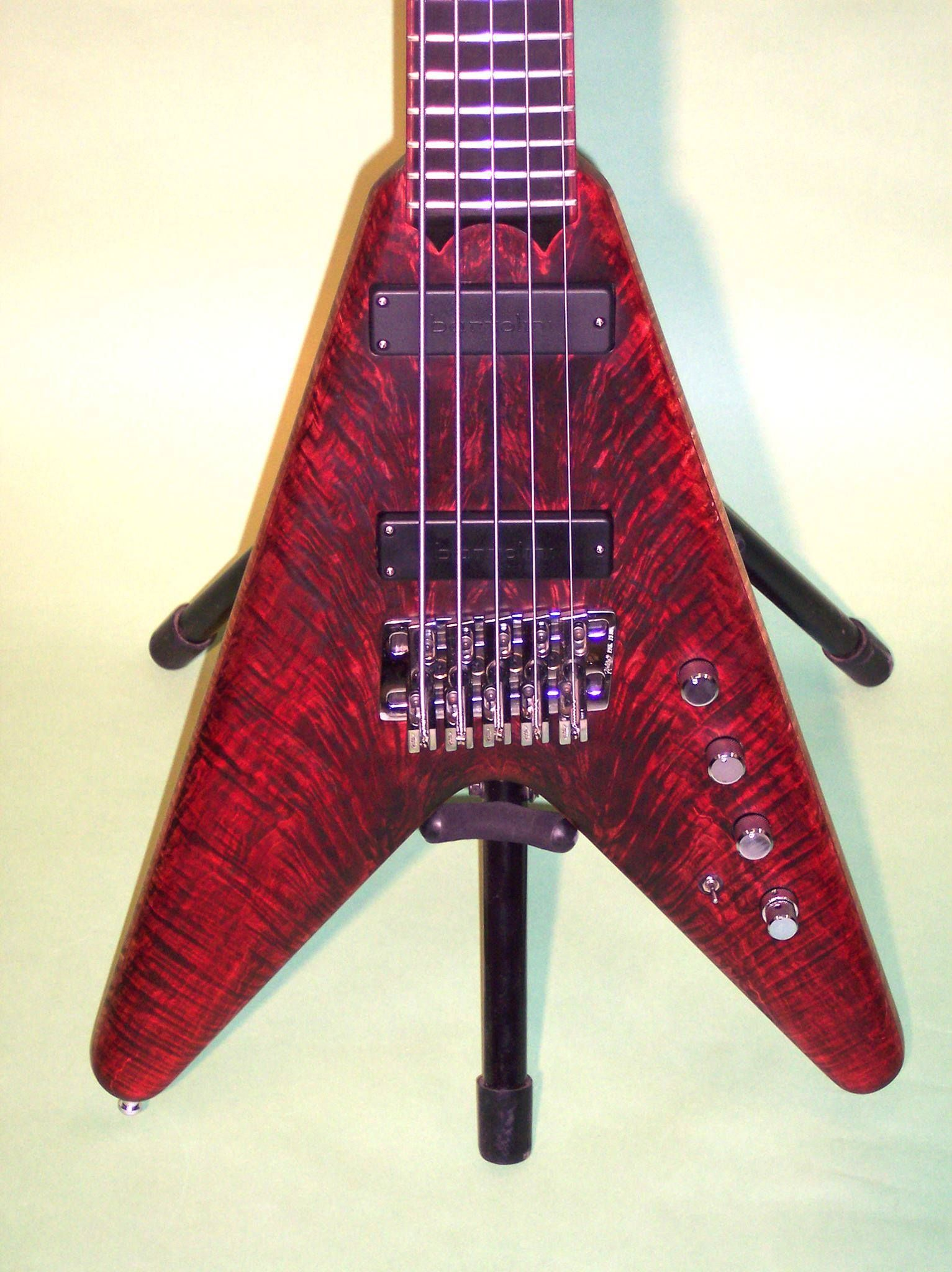 5 String bass from Black Devil Guitars with Kahler fixed bass bridge