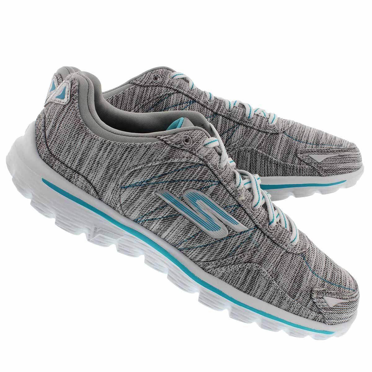 Skechers Women S Gowalk 2 Flash Linear Grey Sneakers 14020 Gyaq