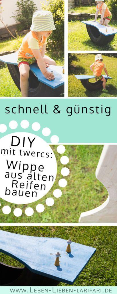 DIY: Wippe aus alten Reifen bauen – tolles Gerät für Kinder im Garten