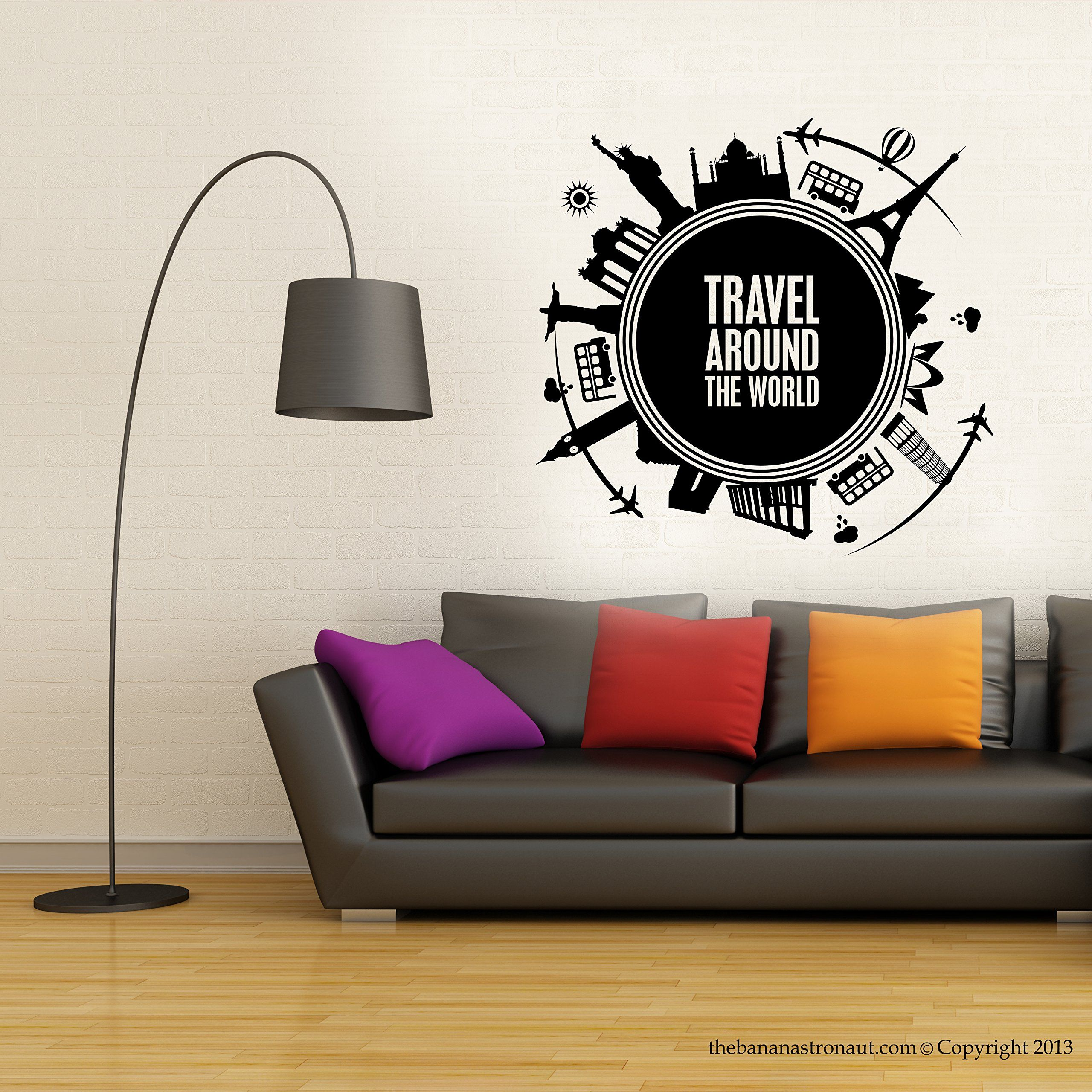 Amazon 999 wall decal travel around the world map modern amazon 999 wall decal travel around the world map modern look gumiabroncs Choice Image