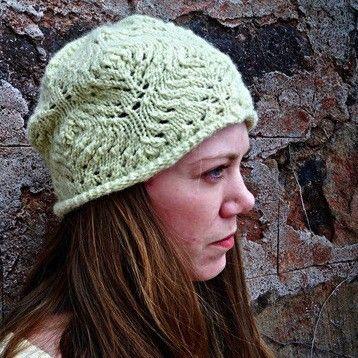 Fickle Knitter Slouchee Lace Hat Pdf Knitting Pattern Knitting