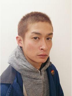 ヘアー ブランシェ 竹城台店 Hair Branche 茶ボウズ ボウズ メンズ ヘアスタイル 男性の髪