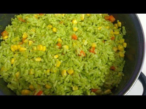 Receta De Arroz Verde Receta 109 Como Hacer Arroz Verde Youtube Como Hacer Arroz Verde Arroz Verde Arroz Verde Receta