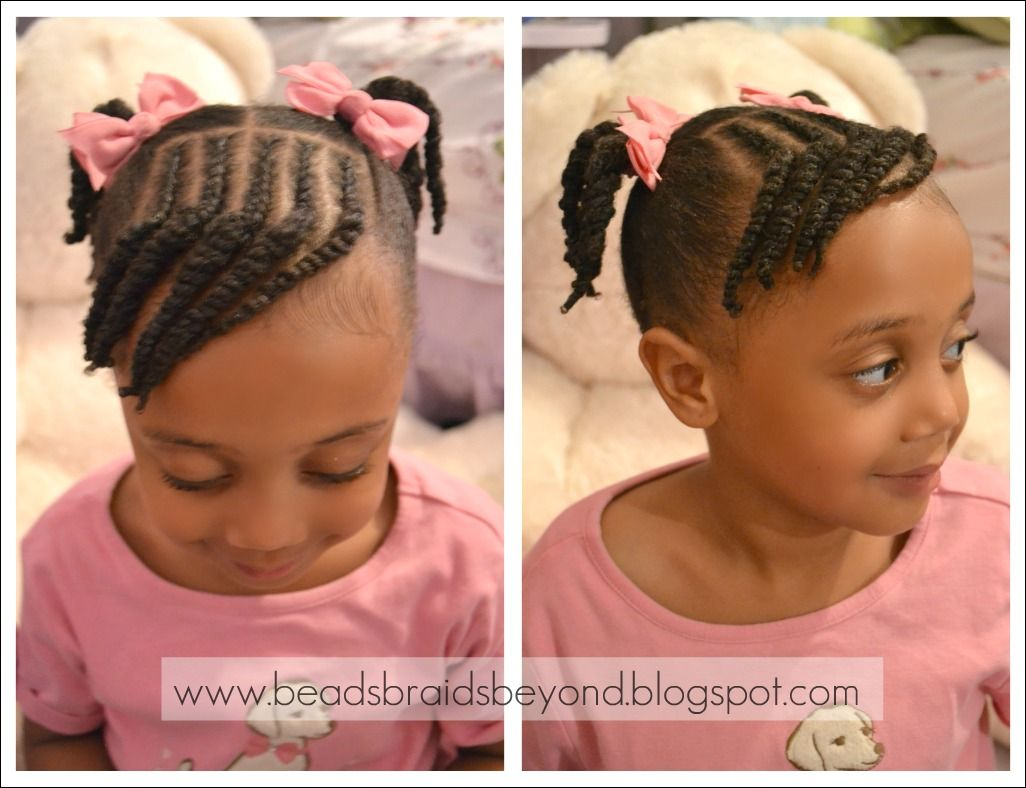 Beads, Braids and Beyond: Little Girls Natural Hairstyle: Cornrows ...