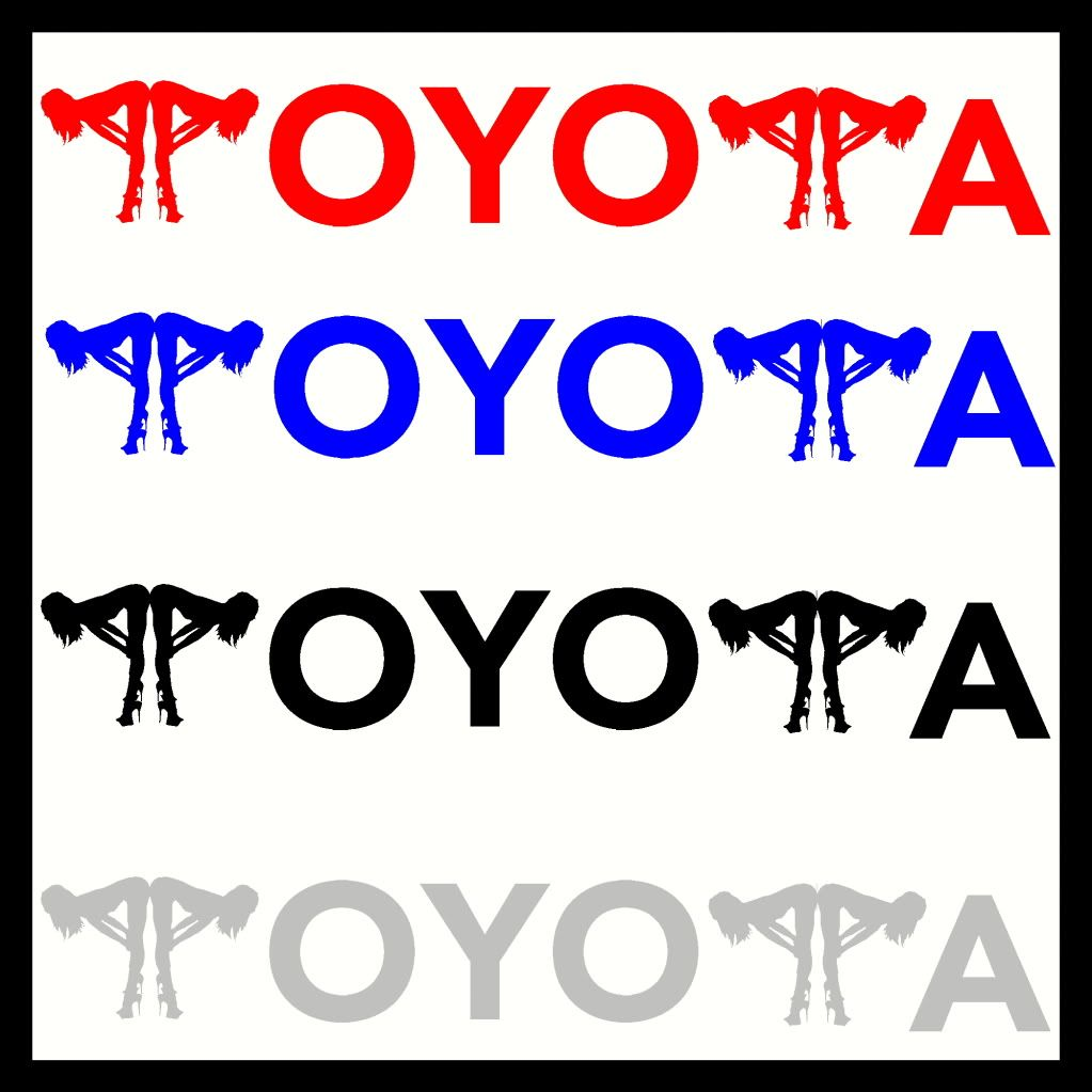 X TOYOTA VINYL CAR STICKERS DECALS SEXY FUNNY CUSTOM Fit To - Car sticker decals custom