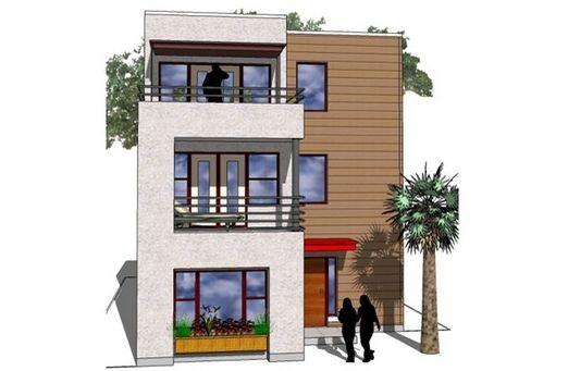 Fachadas casa de tres pisos fachadas pinterest pisos for Fachadas de casas de 3 pisos modernas
