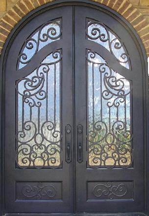 Double Iron Doors Southwest Door Window Iron Doors Doors Beautiful Doors