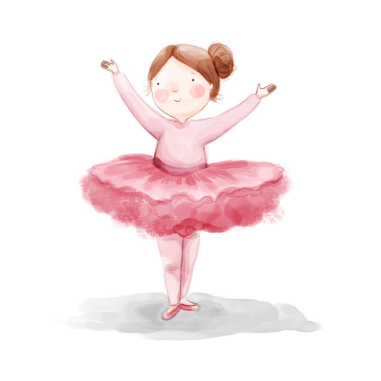 Картинка балерина для детей на прозрачном