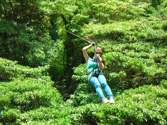 Extremo Canopy - almost miles of 14 ziplines - the last one a long Superman style zipline high above the canopy in Monteverde Costa Rica. & Extremo Canopy - almost 2.5 miles of 14 ziplines - the last one a ...