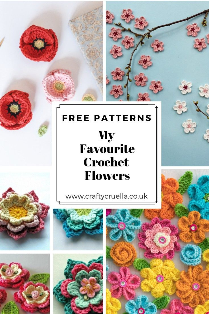 My Favourite Crochet Flowers - A round-up of free patterns #crochetflowers