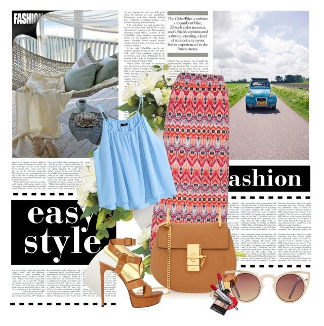 """""""If you try to stop this fire We're only gonna make it brighter !!!"""" by zoe-keredy ❤ liked on Polyvore featuring maurices, H&M, Kate Spade, Chloé, Yves Saint Laurent and Quay"""