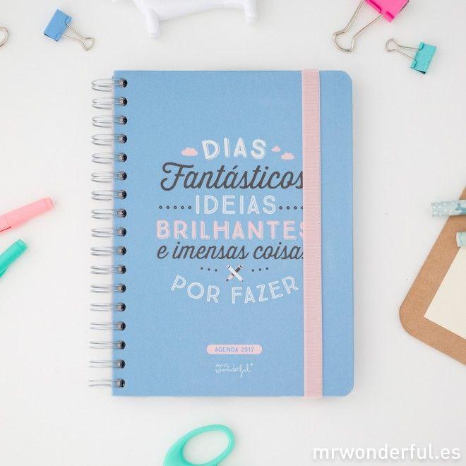 Agenda 2017 Vista Semanal Dias Fantasticos Ideias Brilhantes E