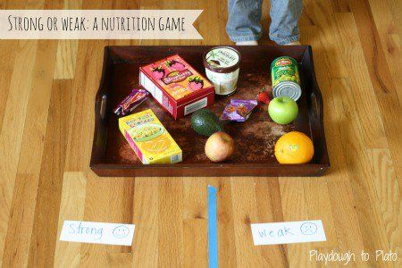 Strong or Weak: A Nutrition Game - Creative Family Fun #kidsnutrition
