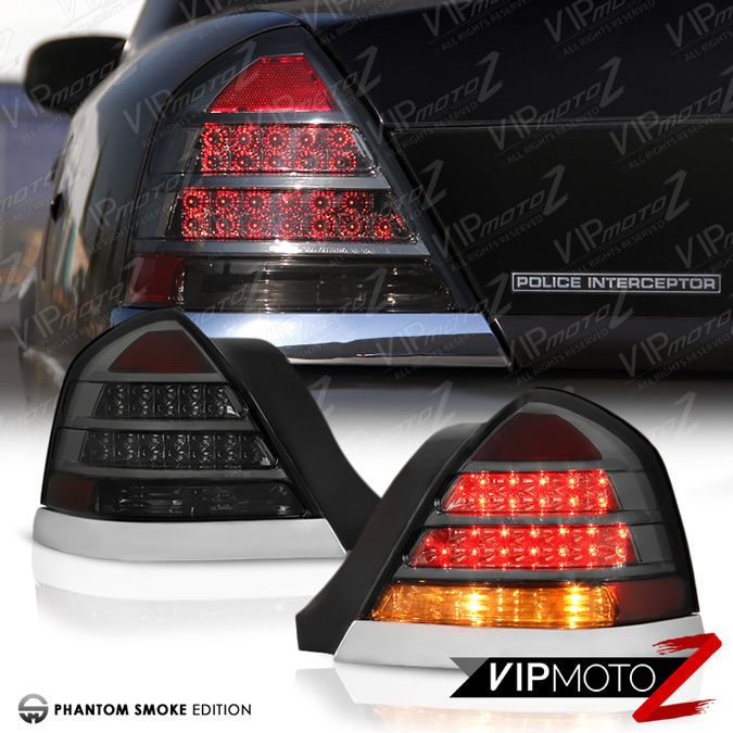 98 11 Ford Crown Victoria Lx Lwb Smoke Tinted High Led Tail Lights Lamps Vipmotoz
