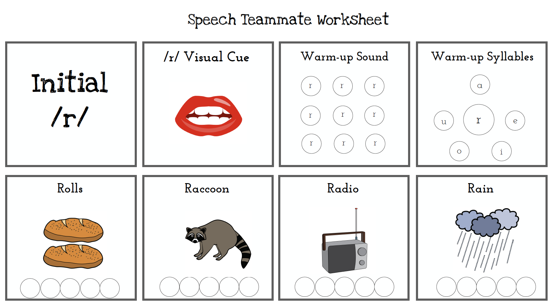 60 Free Articulation Worksheets From Speech Teammate