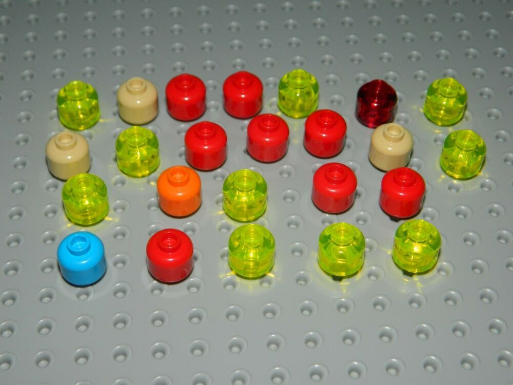 New LEGO Lot of 6 Pearl Gold 1x1 Round Plate Pieces