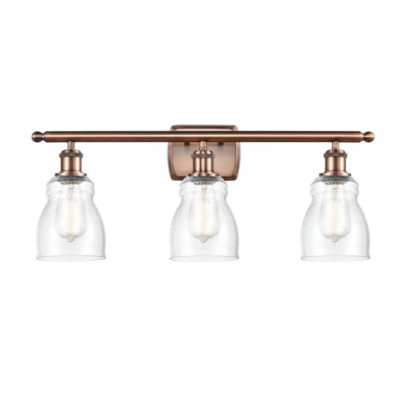 "Photo of Innovations lighting 516-3W Ellery Ellery 3 Light 26 ""wide bathroom basin lamp Antique copper / Seedy interior lighting bathroom lamps basin lamp"