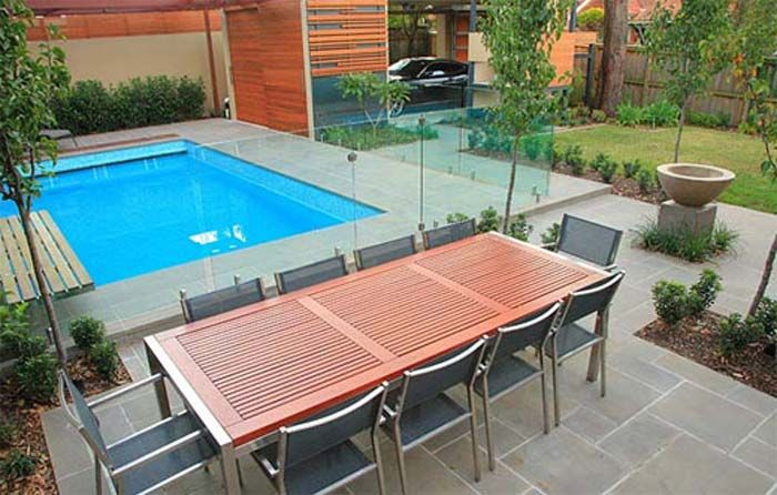 Small Pool If It Can T Be Raised A See Through Fence Would Be Ideal Modern Pools Pool Landscape Design Pool Designs