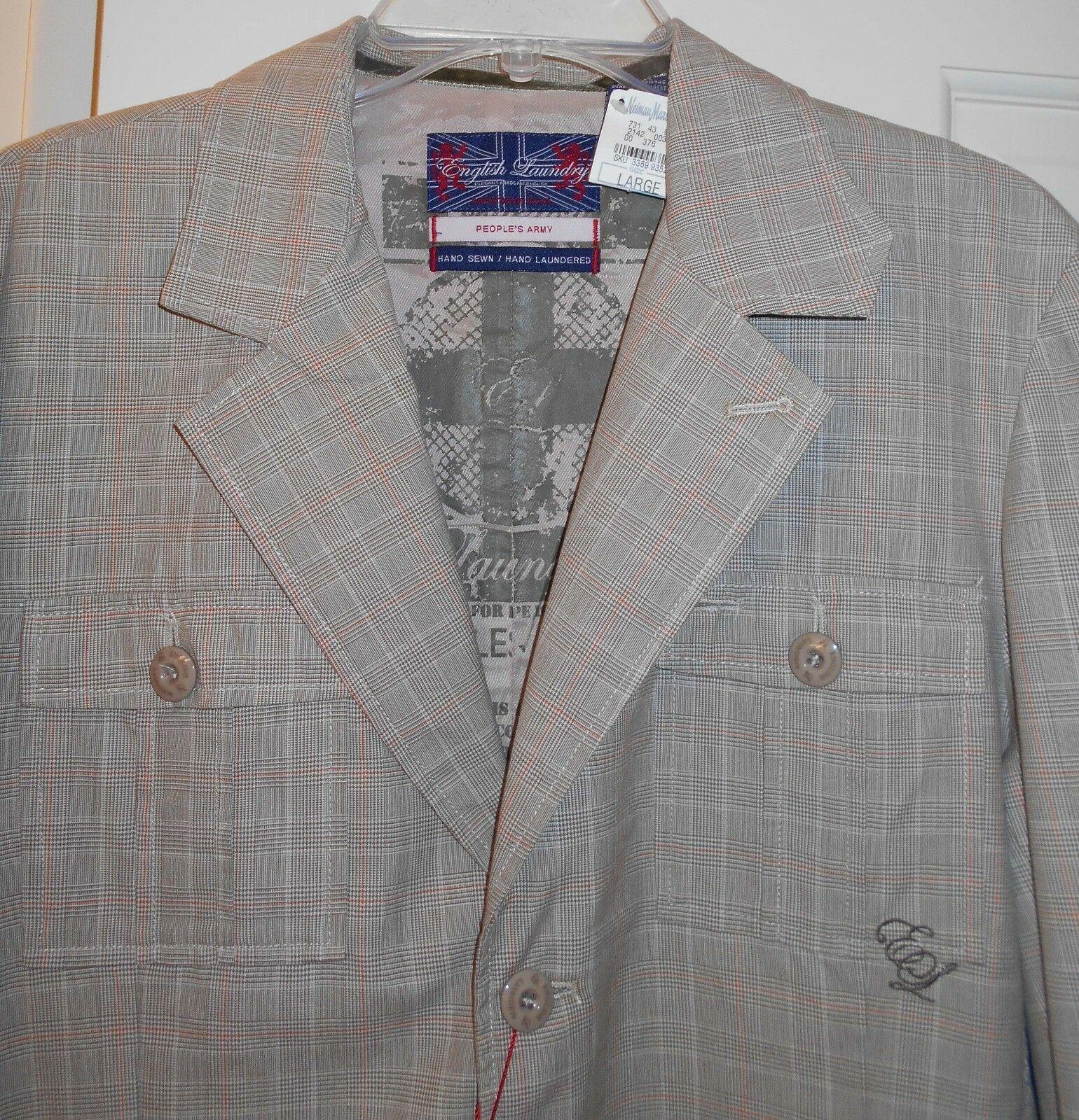 New 195 English Laundry Denby Dale Olive Brown Plaid Elbow Pads Coat Jacket L Ebay Padded Coat Blazer Coat Coats Jackets [ 1600 x 1540 Pixel ]