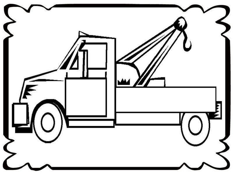 Fun Tow Truck In Frame Coloring Pages Di 2020