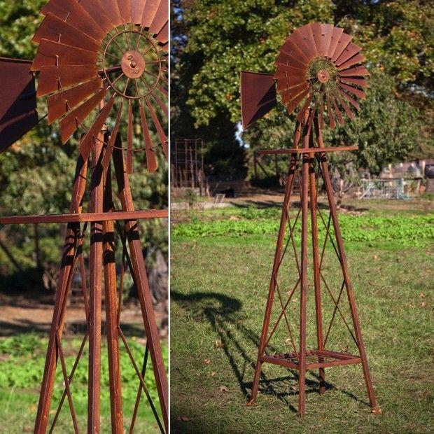 Huge Rustic Garden Windmill Garden Windmill Rustic Gardens Rustic Landscaping
