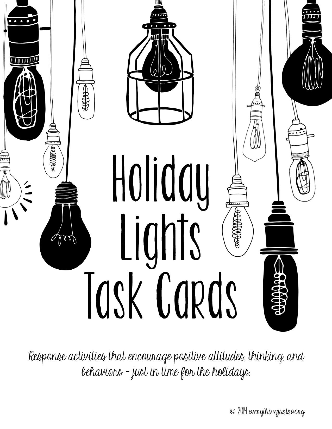 Holiday Lights Task Cards | Holiday Writing Prompts | Holiday Writing Activities -   18 tulisan holiday Tumblr ideas
