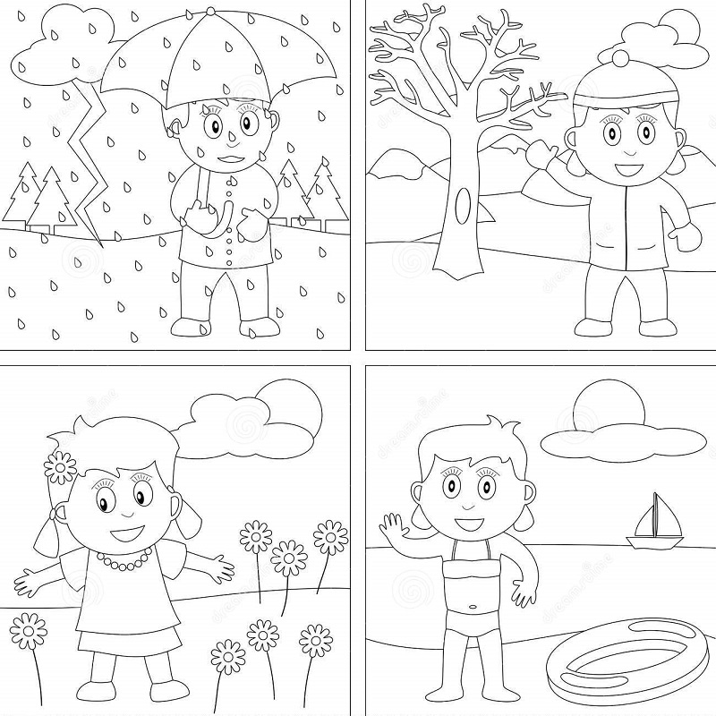فصول السنة تلوين للاطفال بحث Google Seasons Worksheets Preschool Coloring Pages Coloring Pages