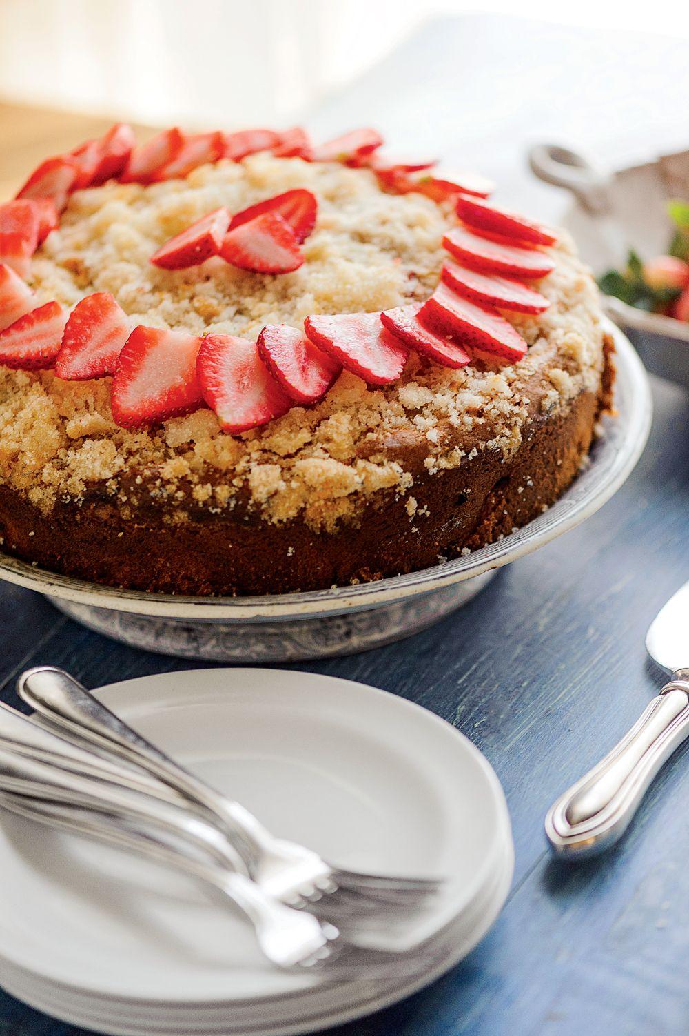 Strawberry Rhubarb Coffee Cake Recipe Coffee Cake Rhubarb Coffee Cakes Cake Recipes