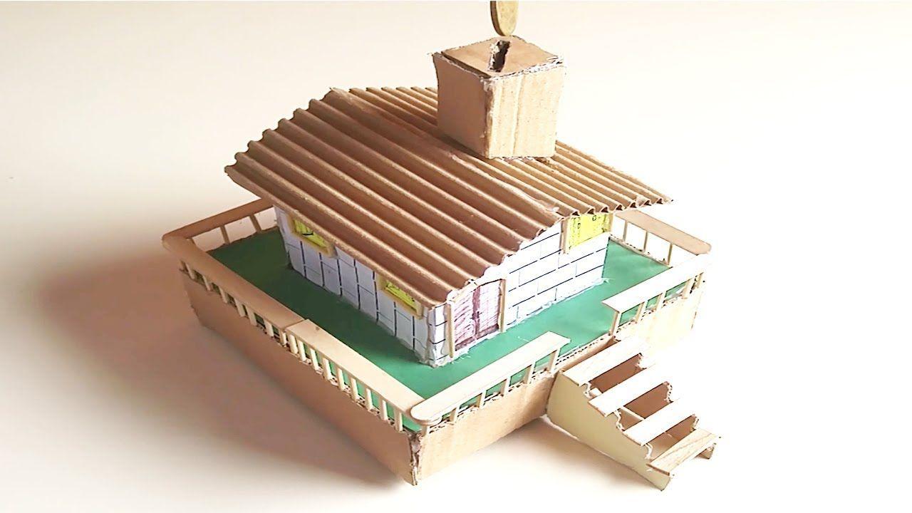 كيف تصنع حصالة نقود على شكل منزل جميل