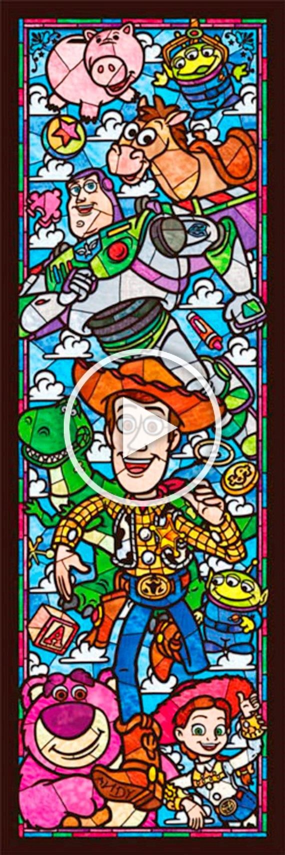 Photo of BUY 2, GET 1 FREE!Toy Story Disney Stained Glass 088 Cross Stitch Pattern Counte…