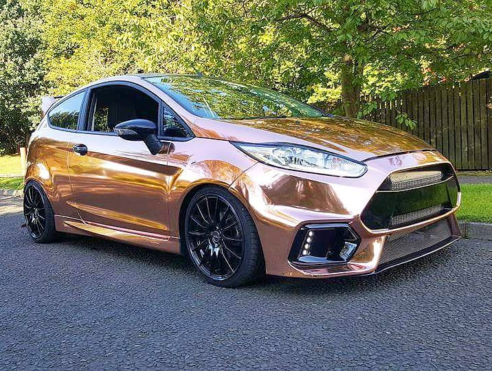 Rose Gold Wrapped Ford Fiesta Thoughts Please Ford Focus St Ford Fiesta St Ford Rs