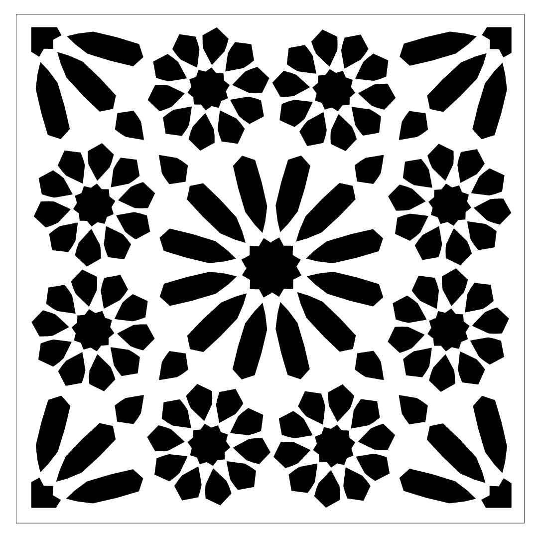 Tile62 Reusable Lasercut Floor Or Wall Tile Stencil Estencil