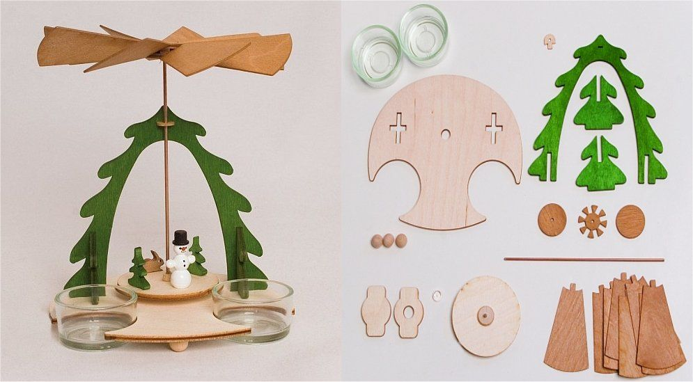 Do it yourself christmas pyramid with snowman and bunny wooden do it yourself christmas pyramid with snowman and bunny wooden german kit solutioingenieria Gallery