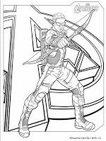Lembar Mewarnai Gambar The Avenger Hawk Eye Coloring Pages