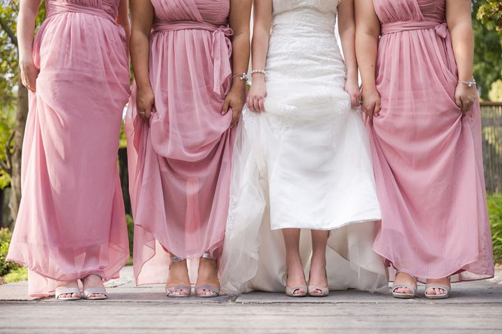 Pink Bridesmaid Dressses For A Beautiful Wedding At The Hunter Valley