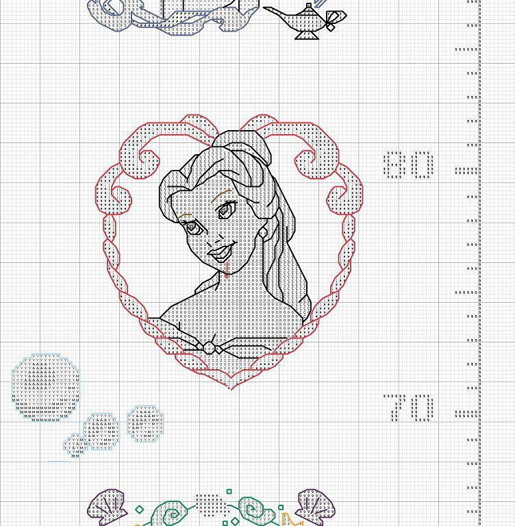 PATRONES DE PRINCESAS   Cross stitch, Stitch and Crochet
