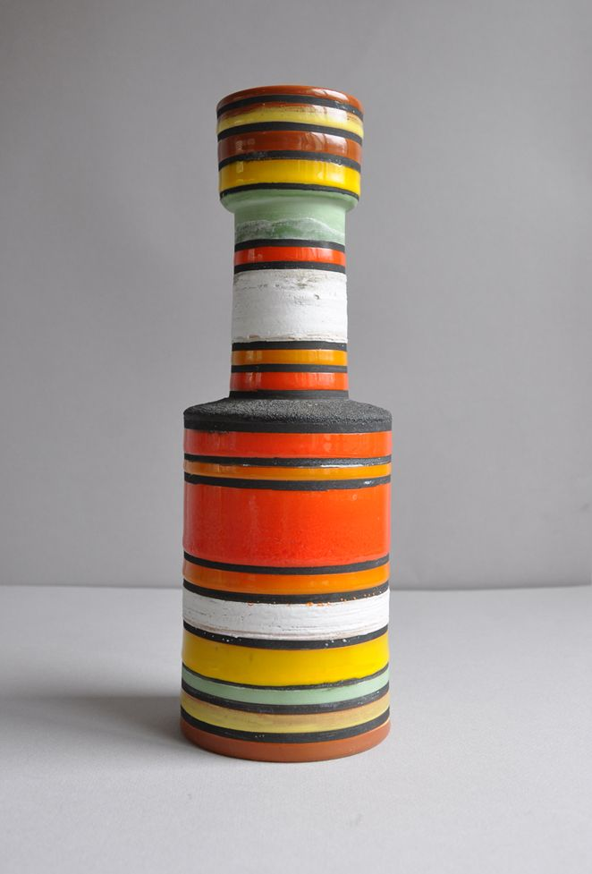 "Bitossi vase, ""Rocchetto"" line by Ettore Sottsass (Memphis"