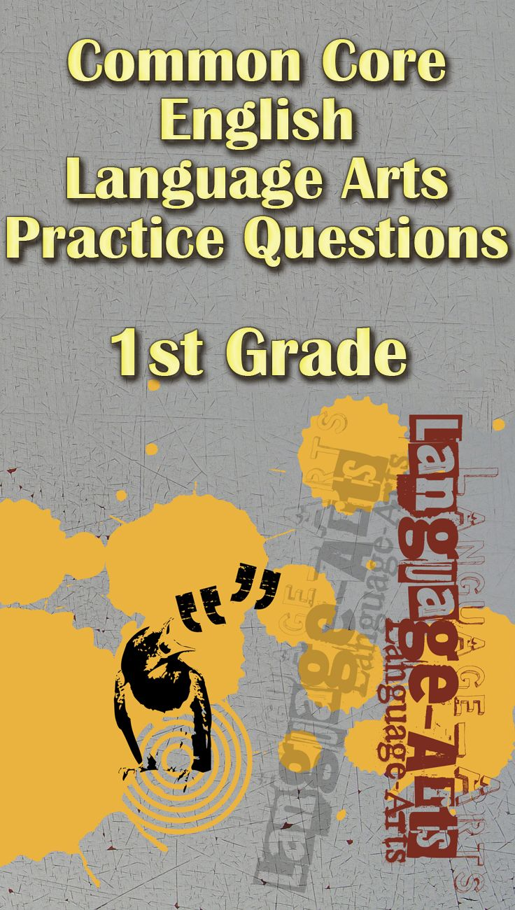 Common Core English Language Arts practice test questions for 1st grade.  Get your students ready for the Common Core English Language Arts exam with  these ...