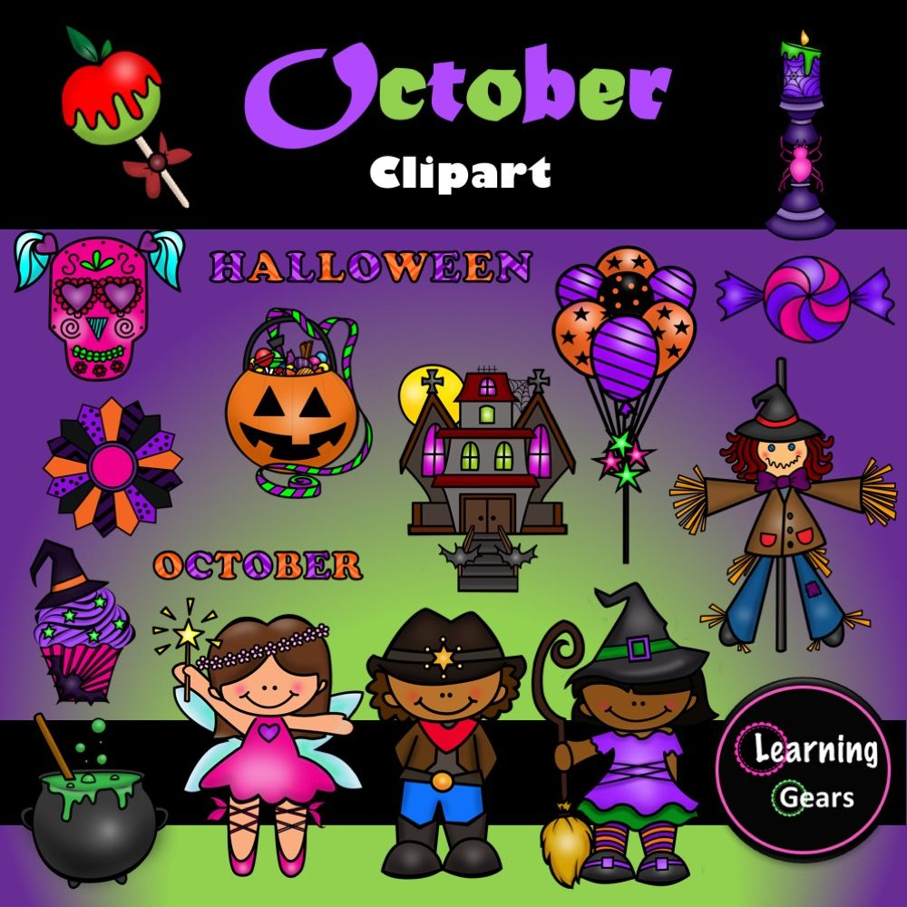 40+ Black And White October Clipart