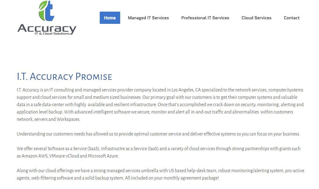 IT Accuracy is an IT consulting and managed services provider