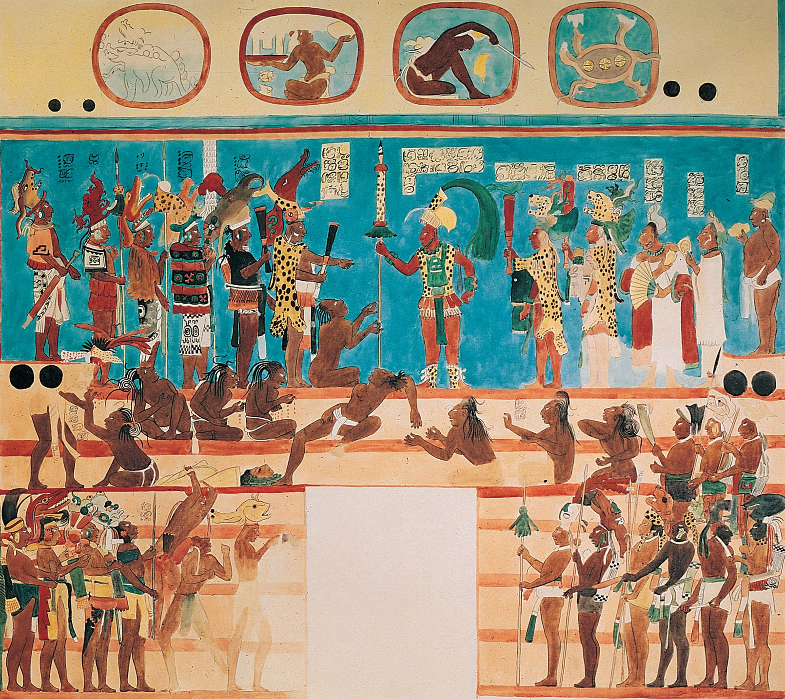 Los mayas mesoamerican paintings and art art for Bonampak mural painting