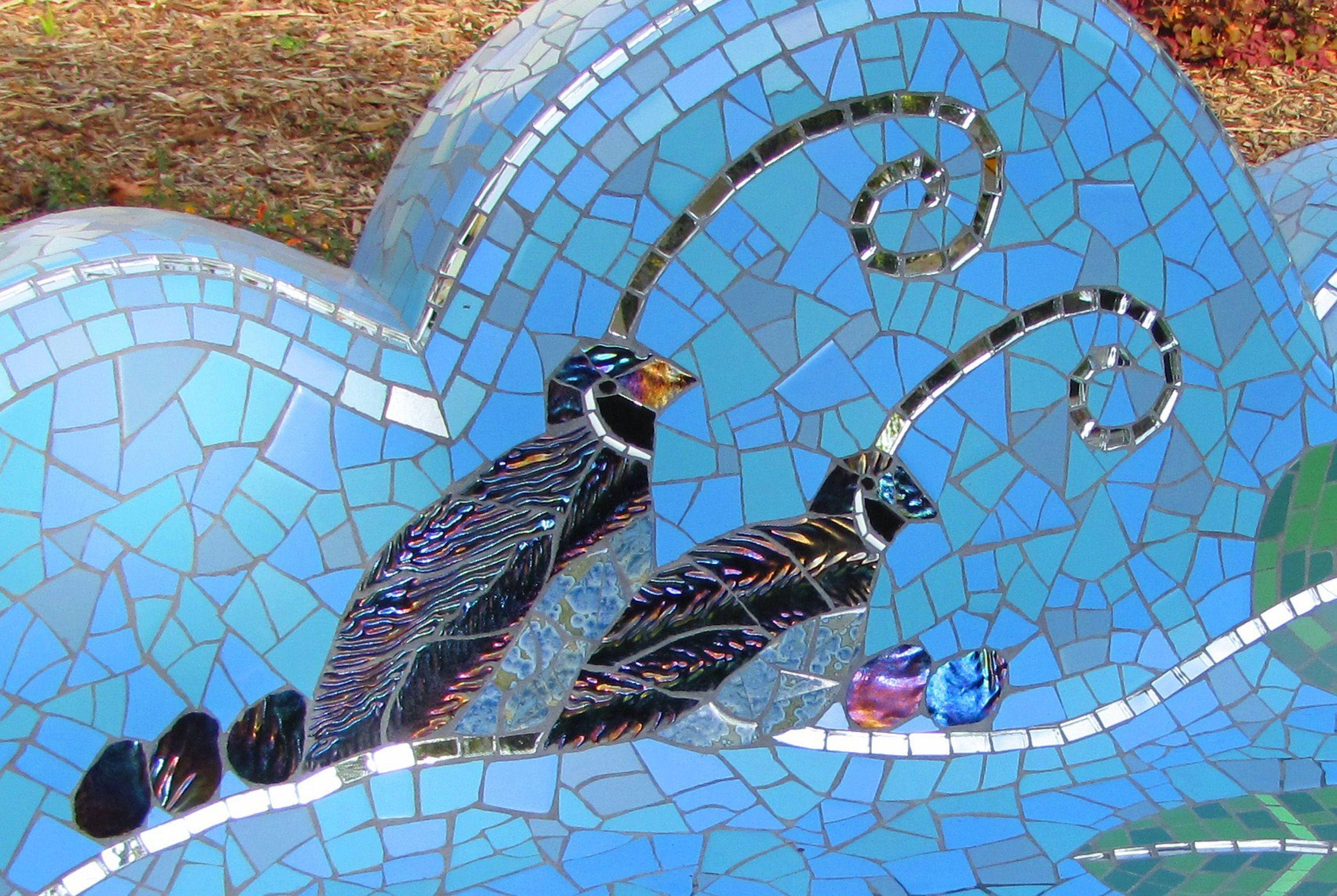 Mosaic sculpture mosaic garden mosaic public garden