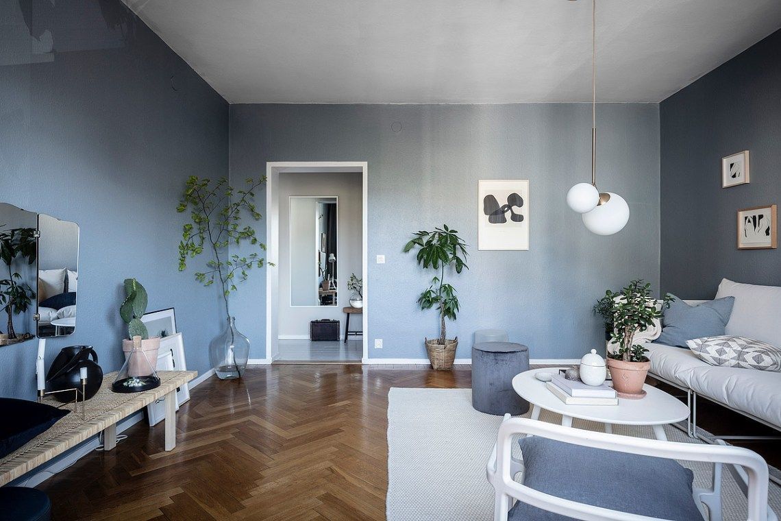 Home With Petrol Blue Walls Coco Lapine Design Blue Li