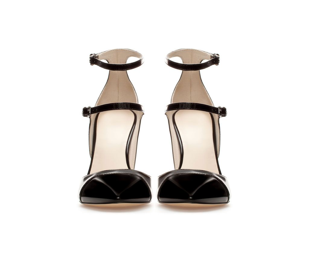 ZARA - WOMAN - HIGH HEEL COURT SHOE WITH STRAPS