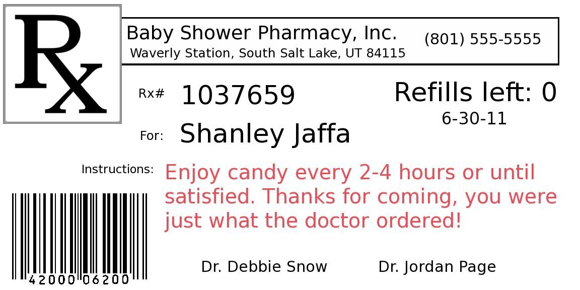 Funny Prescription Label Template