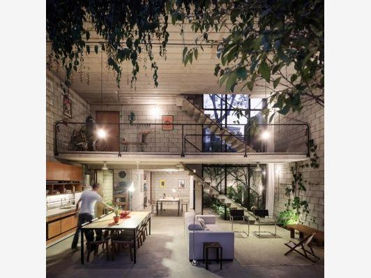 The Maracanã House By Terra e Tuma Arquitetos Associados - open floor plan - Home and Garden Design Ideas