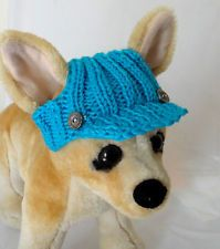 piggy hats to crochet for small dogs | ... Spring Outfit Crochet Hand-Knit Dog Hat for Small Dogs Nice Gift #dogcrochetedsweaters
