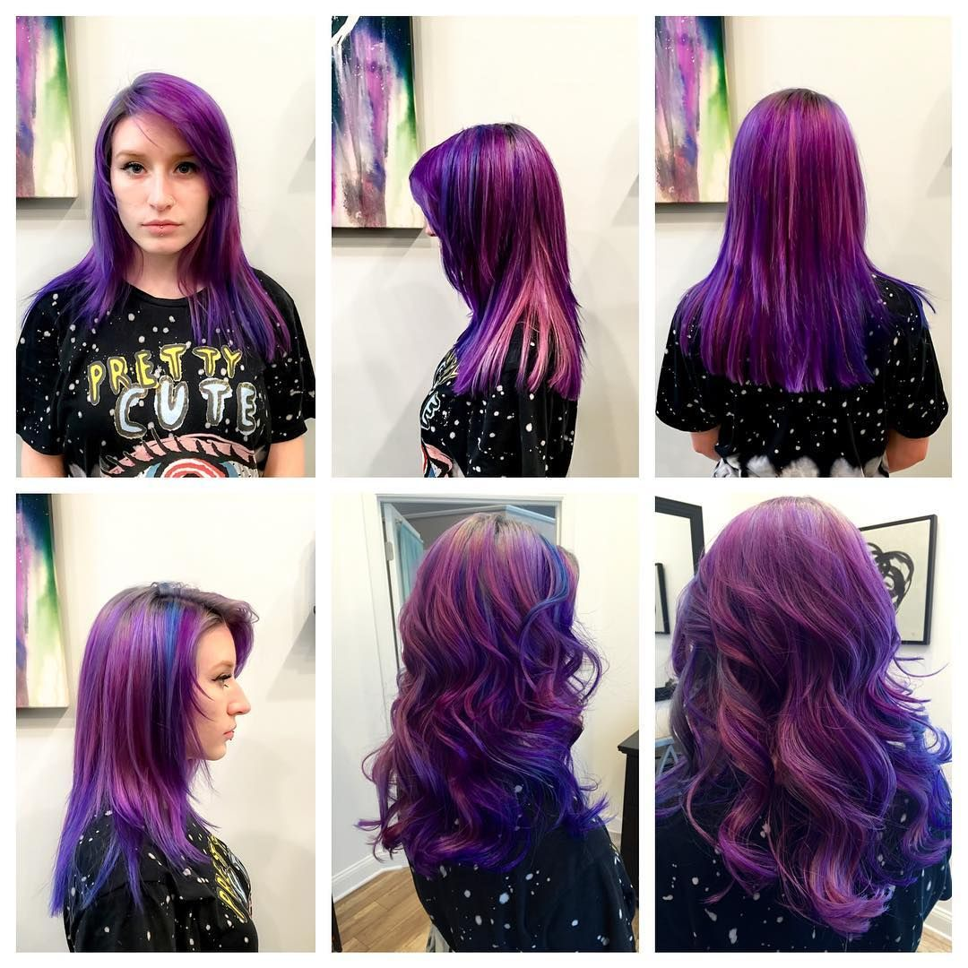 Purple color melt u elysian salon and day spa hårfarge pinterest
